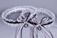 Oakland Raiders Lace Wedding Garter Set
