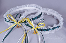 Oakland Athletics Lace Wedding Garter Set