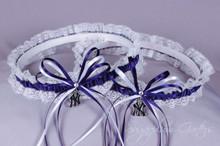 New York Yankees Lace Wedding Garter Set
