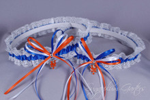 New York Mets Lace Wedding Garter Set