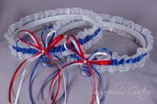 New York Rangers Lace Wedding Garter Set
