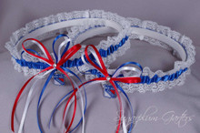 New York Rangers Lace Wedding Garter Set