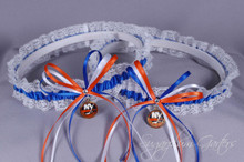 New York Islanders Lace Wedding Garter Set