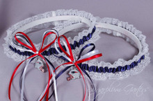 New England Patriots Lace Wedding Garter Set