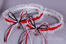 Miami Heat Lace Wedding Garter Set