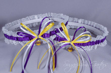 Los Angeles Lakers Lace Wedding Garter Set