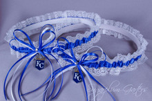 Kansas City Royals Lace Wedding Garter Set