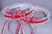 Kansas City Chiefs Lace Wedding Garter Set