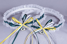Green Bay Packers Lace Wedding Garter Set