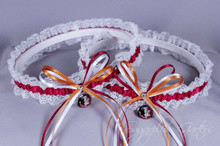 Florida State University Seminoles Lace Wedding Garter Set
