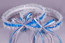 Detroit Lions Lace Wedding Garter Set
