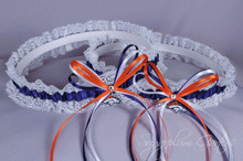 Denver Broncos Lace Wedding Garter Set