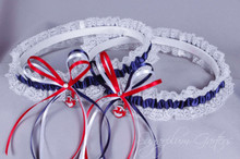 Cleveland Indians Lace Wedding Garter Set