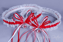 Cincinnati Reds Lace Wedding Garter Set