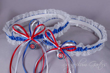 Chicago Cubs Lace Wedding Garter Set