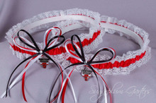 Chicago Bulls Lace Wedding Garter Set