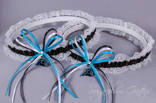 Carolina Panthers Lace Wedding Garter Set