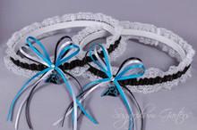 Carolina Panthers Lace Wedding Garter Set