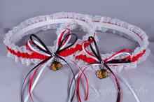 Chicago Blackhawks Lace Wedding Garter Set