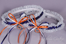 Chicago Bears Lace Wedding Garter Set