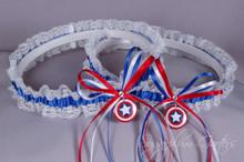 Captain America Lace Wedding Garter Set