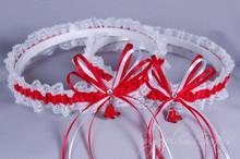 Boston Red Sox Lace Wedding Garter Set