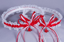 Boston Red Sox Lace Wedding Garter Set