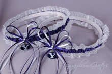 Brigham Young University Cougars Lace Wedding Garter Set