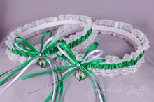 Boston Celtics Lace Wedding Garter Set