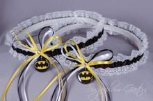 Batman Lace Wedding Garter Set