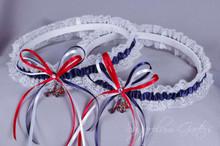 Atlanta Braves Lace Wedding Garter Set