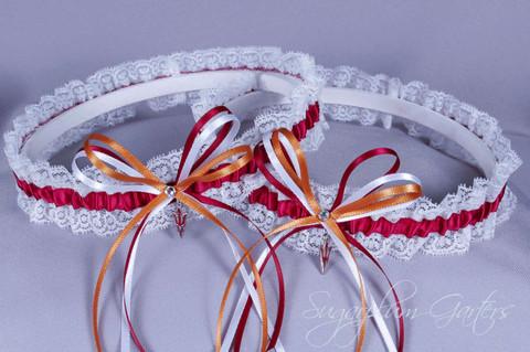 Arizona State University Sun Devils Lace Wedding Garter Set