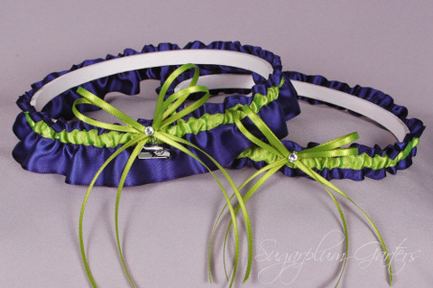 Seattle Seahawks Wedding Garter Set