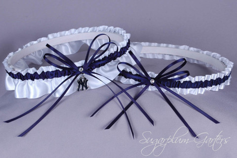 New York Yankees Wedding Garter Set