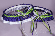 Seattle Seahawks Wedding Garter Set