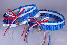 Custom MLB House Divided Wedding Garter Set ~ Pick Your Teams