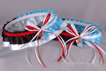 Custom House Divided Classic Wedding Garter Set