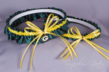 Green Bay Packers Wedding Garter Set