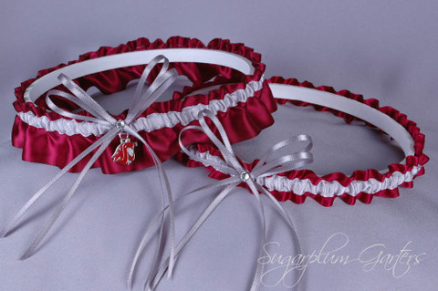Washington State University Cougars Wedding Garter Set