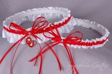 University of Oklahoma Sooners Wedding Garter Set