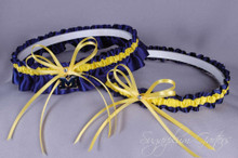 University of Michigan Wolverines Wedding Garter Set