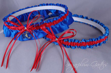 University of Kansas Jayhawks Wedding Garter Set