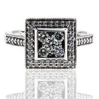 14kt White Gold Diamond Cluster Ring