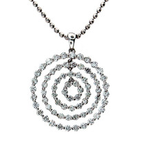 Diamond Pendant in 18kt White Gold