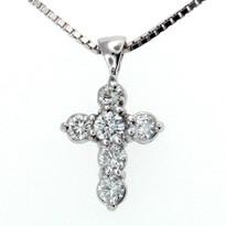 Diamond Cross .64ct GVS2  in 14kt White Gold
