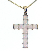 14kt Yellow Gold Opal Cross