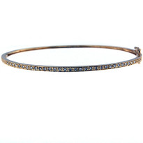 Diamond Bangle set in 14kt Yellow Gold