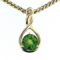 14kt Yellow Gold Peridot Pendant