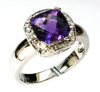 Amethyst Diamond Ring with 2.21ct Gemstone