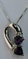 14kt White Gold Amethyst Pendant with Diamond